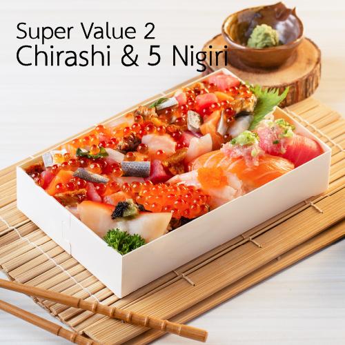 Super Value2 Chirashi & 5 Nigiri